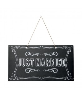 panneau en carton just married
