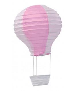 Mini mongolfière rose & blanc