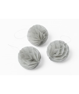 mini boules alveolees grises