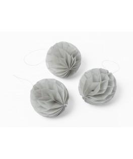 boules alveolees grises 6cm