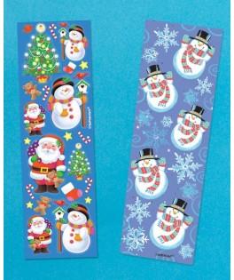 Stickers de Noël - Père Noël et Bonhomme de Neige