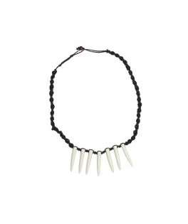 Collier Indien fausses dents homme