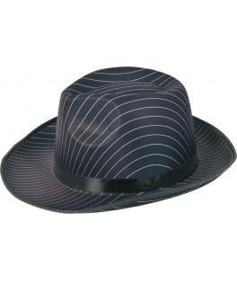 Chapeau Borsalino rayé noir et blanc réglable