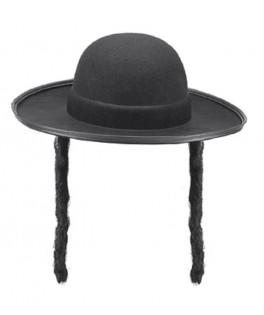 Chapeau Rabbin feutre noir homme