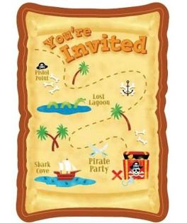 invitation anniversaire pirate party