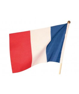 Set de 12 drapeaux de France 15 x 23 cm