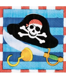 serviettes pirate treasure