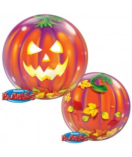 ballon bubble citrouill halloween