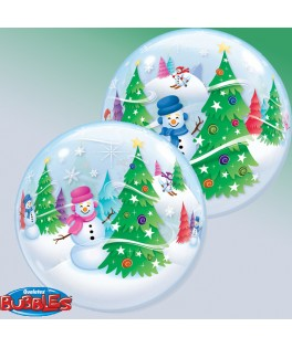 ballon single bubble  bonhomme de neige