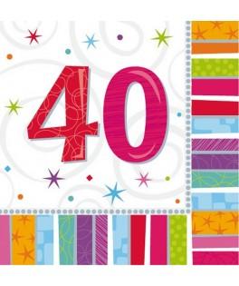 serviette anniversaire 40 ans