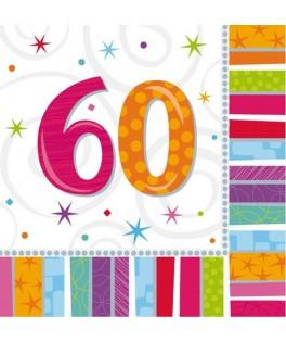 serviette anniversaire 60 ans
