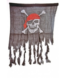 Drapeau Pirate Tête de mort avec hampe