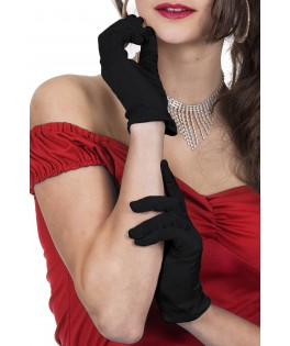 gants de gala satin rouges