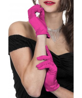 gants de gala satin blancs
