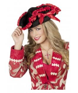 Veste pirate femme rouge