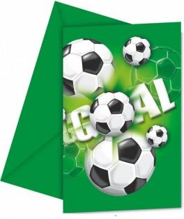 Invitations anniversaire Football  x6