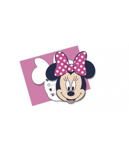 Invitations anniversaire Minnie Mouse  x6