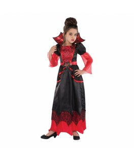 deguisement longue robe fille vampire  rouge