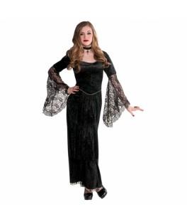 deguisement longue robe seductrice gothique