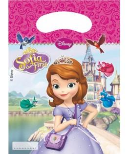 Sacs cadeaux Princesse Sofia  x6