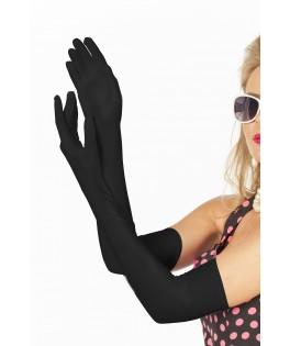 gants de cabaret noirs longs