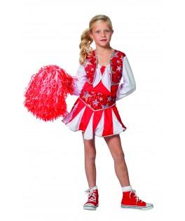 deguisement pompom girl cheerleader fille
