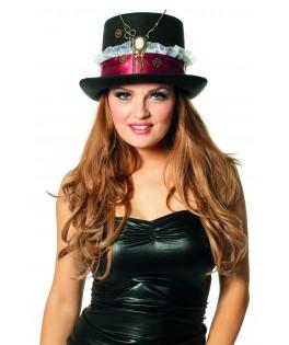 chapeau haut de forme noir steampunk