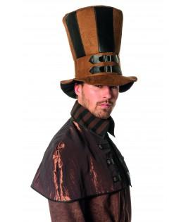 Chapeau Haut de forme Steampunk noir et marron