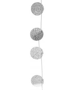Guirlande cercle scintillante Argent