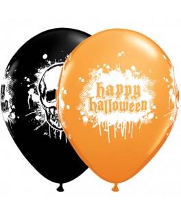 ballon tete de mort halloween
