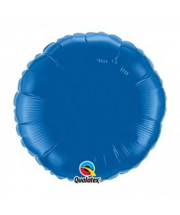ballon metallise rond bleu