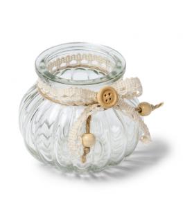 vase dentelle champetre