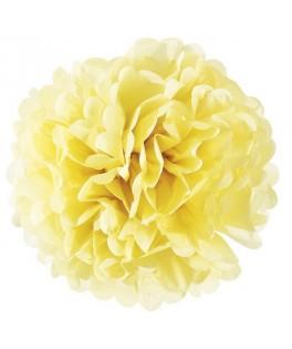 pompon papier jaune 35 cm