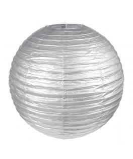 lanterne papier argent 30 cm