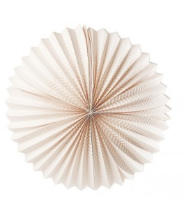 lampion rond rose pale 26 cm