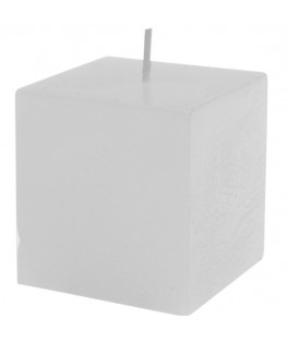 bougie carree blanche