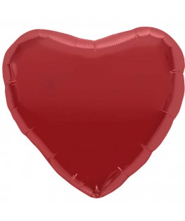 ballon metallise coeur rouge
