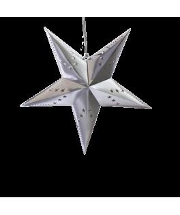 Suspension Etoile papier argentée 60 cm