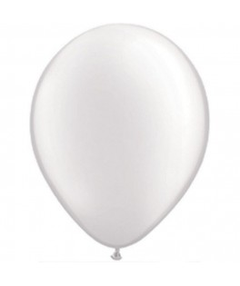 "Ballons ronds perlés blancs 16"""