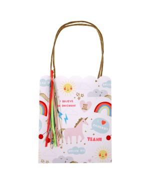 Sacs cadeaux Licorne x8