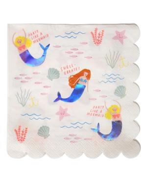 serviettes papier sirene meri meri