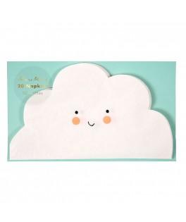Petites serviettes nuage