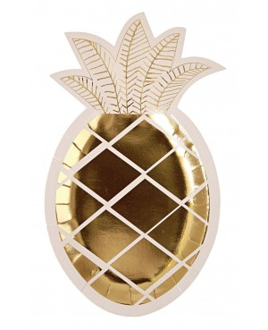 Grandes Assiettes Ananas  x8