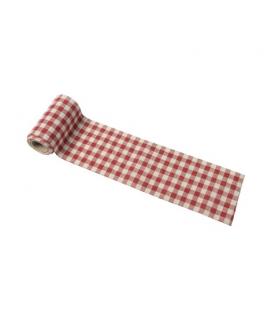 Ruban coton vichy rouge rétro (5cm x 5m)