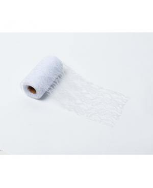 Ruban de dentelle blanche  (10 cm x 10 m)