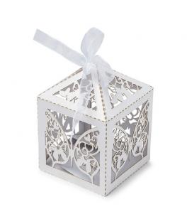 Contenants dragées papillon blanc  x20