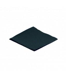 Serviettes Micro point Noir  x100