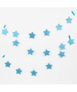 Guirlande étoile pailletée bleu My Little Day