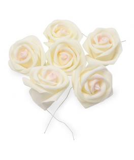 roses a piquer ivoire