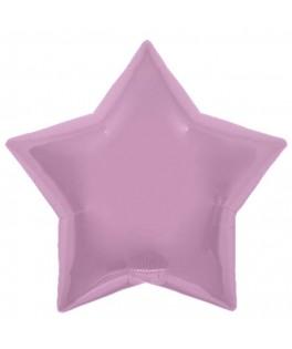 Ballon mylar étoile rose pastel